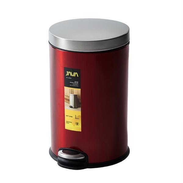 JAVA Effie ペダルビン ステンレス ゴミ箱 12L  / インナーボックス付 15Lゴミ袋対応 丸型ペダル式 ダストボックス|gomibako-world|12
