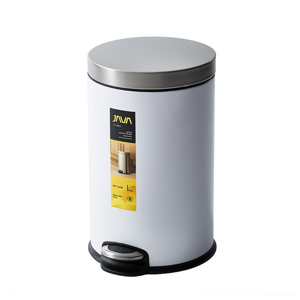 JAVA Effie ペダルビン ステンレス ゴミ箱 12L  / インナーボックス付 15Lゴミ袋対応 丸型ペダル式 ダストボックス|gomibako-world|14