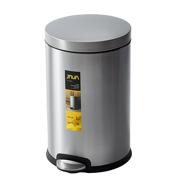 JAVA Effie ペダルビン ステンレス ゴミ箱 20L  / インナーボックス付 30Lゴミ袋対応 丸型ペダル式 ダストボックス|gomibako-world|09