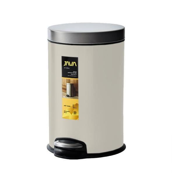 JAVA Effie ペダルビン ステンレス ゴミ箱 8L  / インナーボックス付 8Lゴミ袋対応 丸型ペダル式 ダストボックス|gomibako-world|08