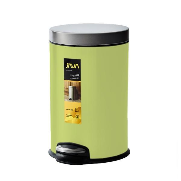 JAVA Effie ペダルビン ステンレス ゴミ箱 8L  / インナーボックス付 8Lゴミ袋対応 丸型ペダル式 ダストボックス|gomibako-world|10