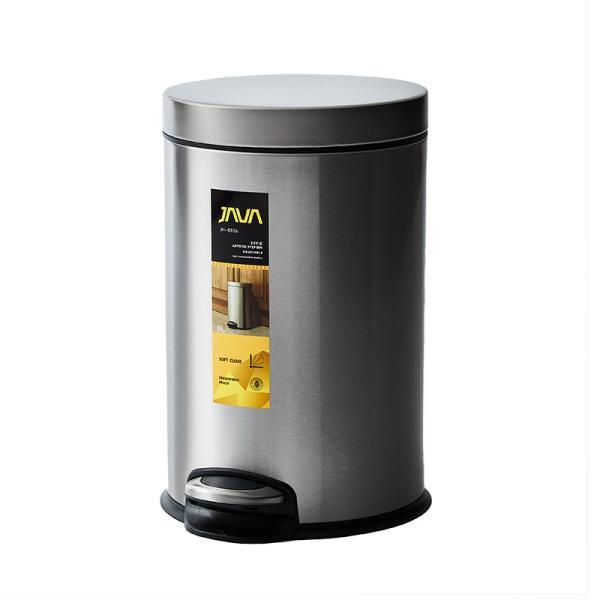 JAVA Effie ペダルビン ステンレス ゴミ箱 8L  / インナーボックス付 8Lゴミ袋対応 丸型ペダル式 ダストボックス|gomibako-world|11