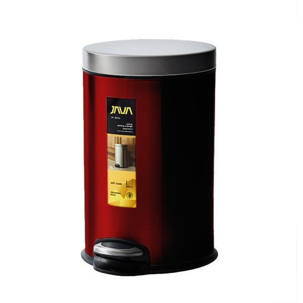 JAVA Effie ペダルビン ステンレス ゴミ箱 8L  / インナーボックス付 8Lゴミ袋対応 丸型ペダル式 ダストボックス|gomibako-world|12