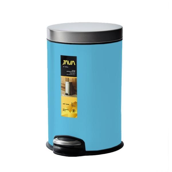 JAVA Effie ペダルビン ステンレス ゴミ箱 8L  / インナーボックス付 8Lゴミ袋対応 丸型ペダル式 ダストボックス|gomibako-world|13