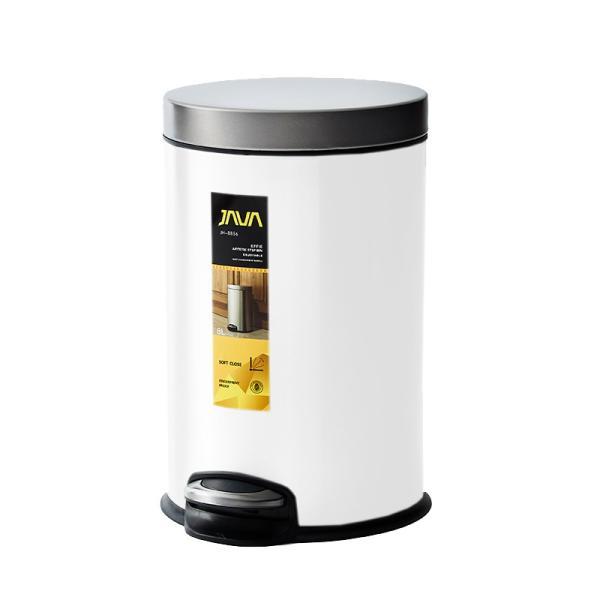 JAVA Effie ペダルビン ステンレス ゴミ箱 8L  / インナーボックス付 8Lゴミ袋対応 丸型ペダル式 ダストボックス|gomibako-world|14