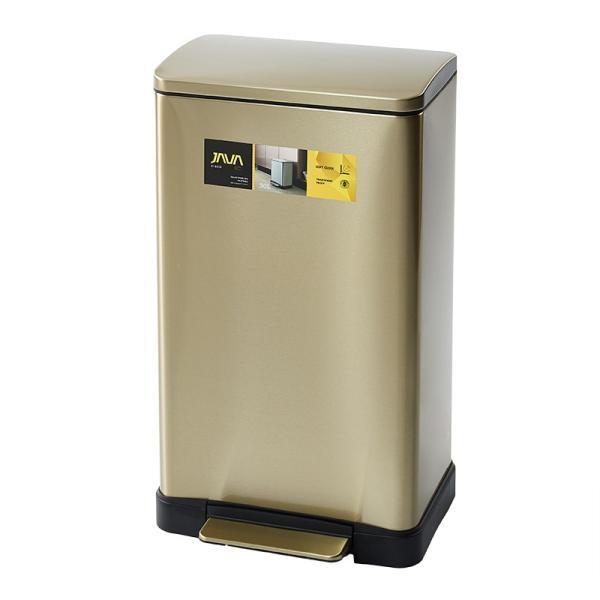 JAVA Lase ペダルビン ステンレス ゴミ箱 30L  / インナーボックス付 45Lゴミ袋対応 消臭剤ポケット付 角型ペダル式 ダストボックス|gomibako-world|09