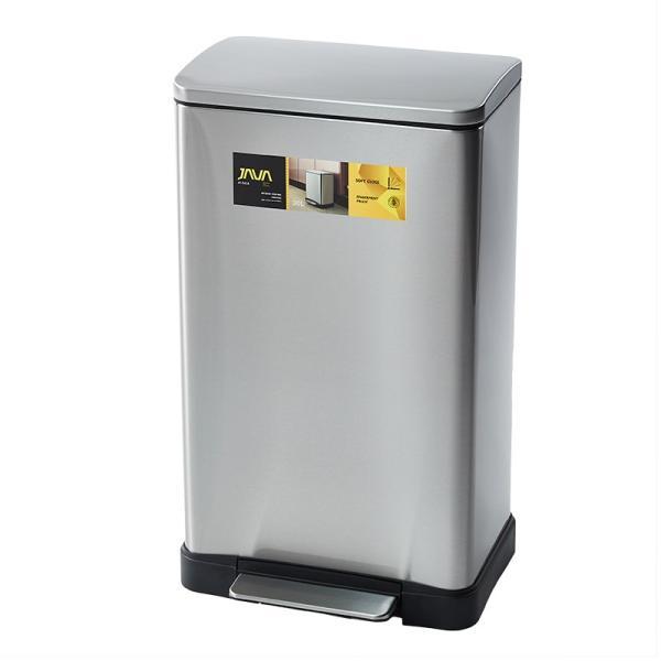 JAVA Lase ペダルビン ステンレス ゴミ箱 30L  / インナーボックス付 45Lゴミ袋対応 消臭剤ポケット付 角型ペダル式 ダストボックス|gomibako-world|10