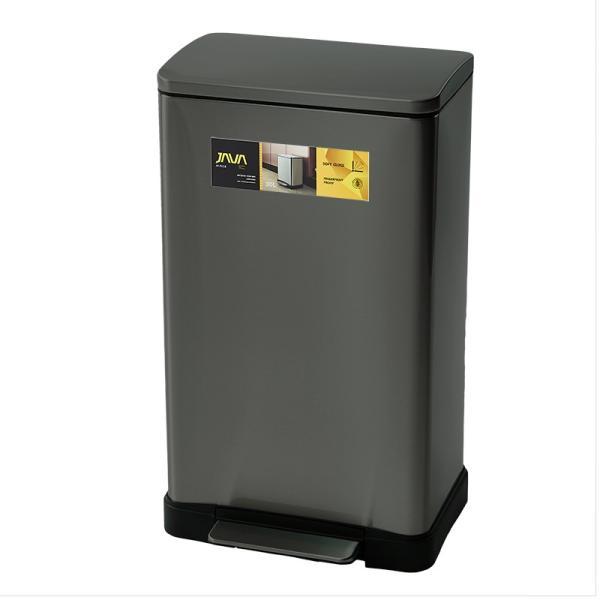 JAVA Lase ペダルビン ステンレス ゴミ箱 30L  / インナーボックス付 45Lゴミ袋対応 消臭剤ポケット付 角型ペダル式 ダストボックス|gomibako-world|11