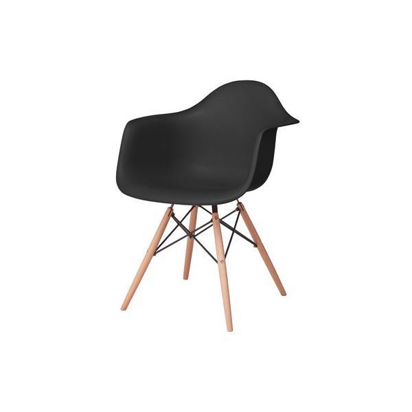 アームチェア ダイニング 椅子 ホワイト おしゃれ 北欧 黒 白 オレンジ シェルチェア DAW|goocafurniture|16