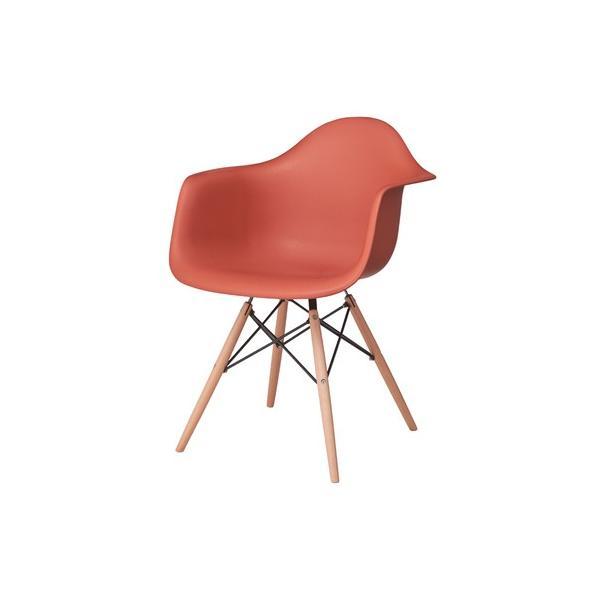 アームチェア ダイニング 椅子 ホワイト おしゃれ 北欧 黒 白 オレンジ シェルチェア DAW|goocafurniture|17