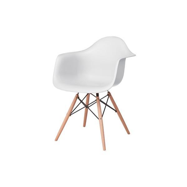 アームチェア ダイニング 椅子 ホワイト おしゃれ 北欧 黒 白 オレンジ シェルチェア DAW|goocafurniture|18