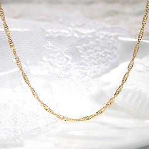 商品画像2 k24 純金 スクリューネックレス 43cm