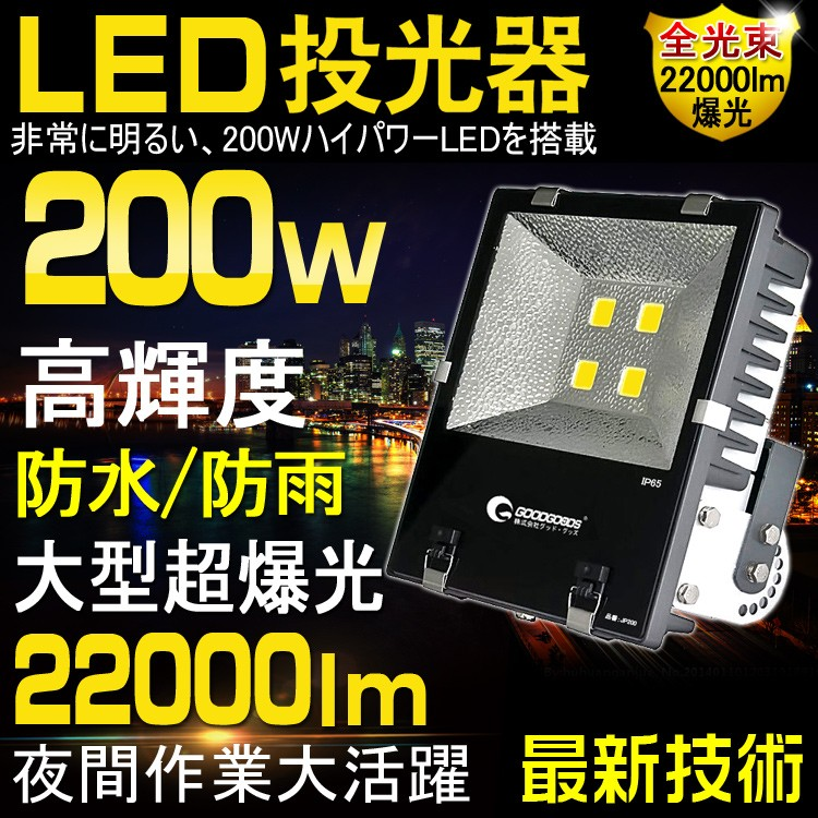 100W LED投光器 最新型 イメージ図