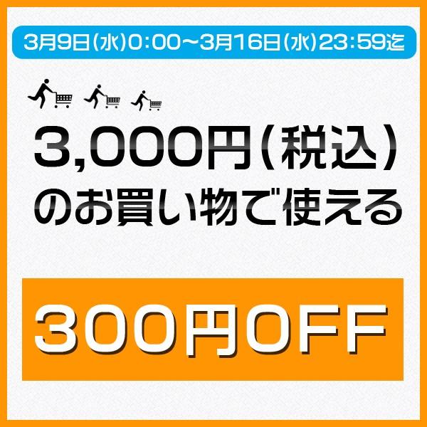 3,000円(税込)のお買い物で使える300円OFFクーポン