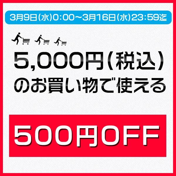 5,000円(税込)のお買い物で使える500円OFFクーポン