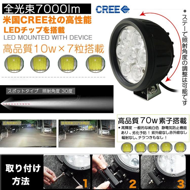 LED作業灯 70W 屋外照明 トラック用品 ナイター照明