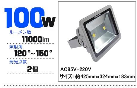 LED投光器 100W AC