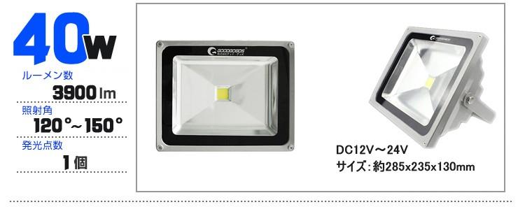 LED投光器 40W DC
