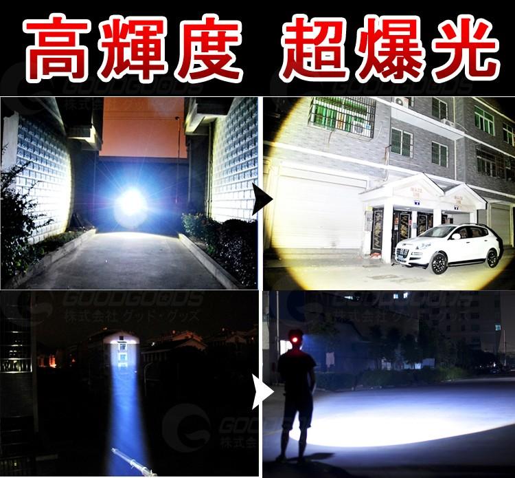 LEDヘッドライトヘッドランプ ズーム機能 キャンプ 防雨