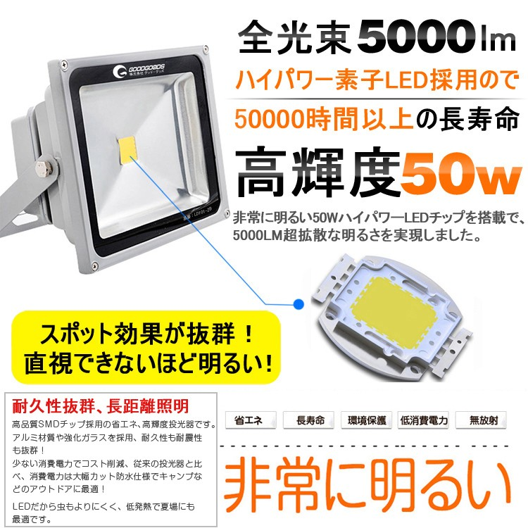 LED投光器 LED 投光器 LEDチップ LED投光機 LED照明 野外灯 作業灯 集魚灯 看板灯