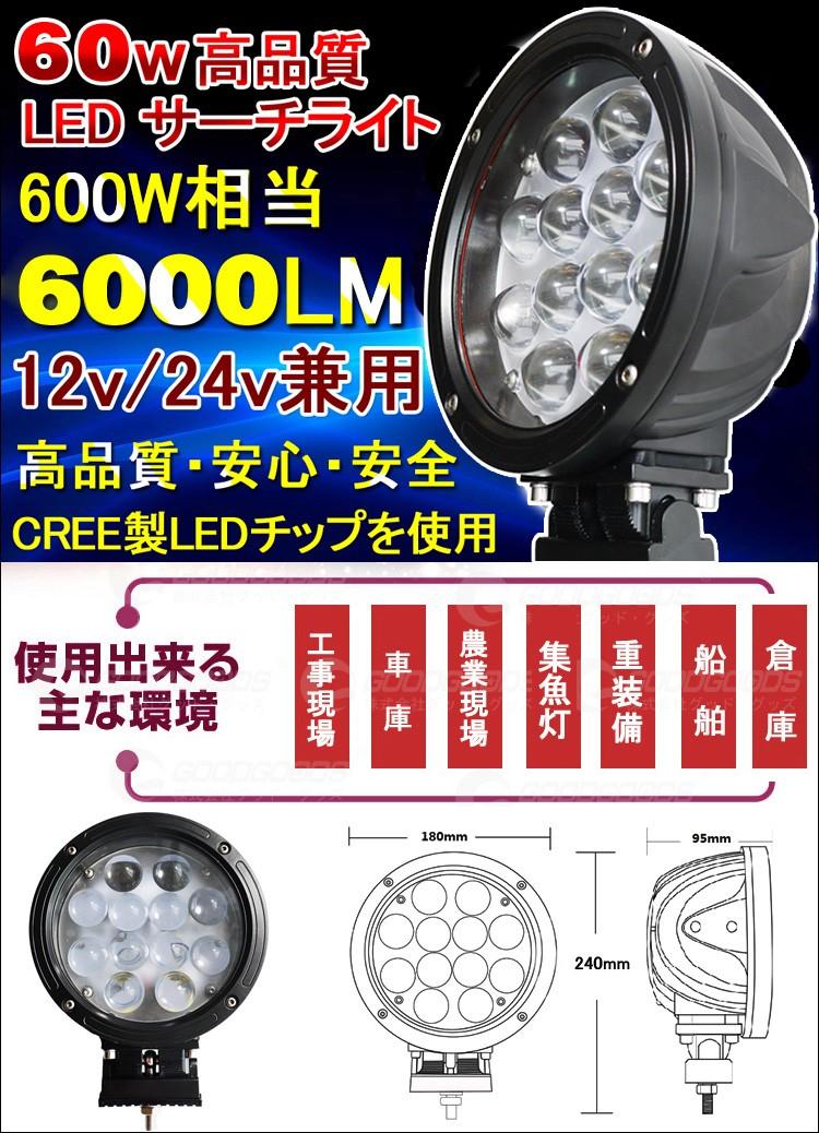 LED作業灯 60W 600W相当 GOODGOODS