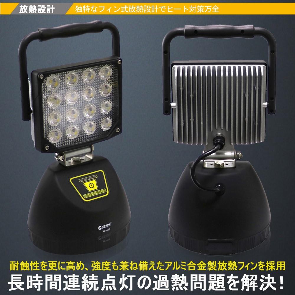 充電式投光器 サンダービーム マグネット コードレス 携帯式
