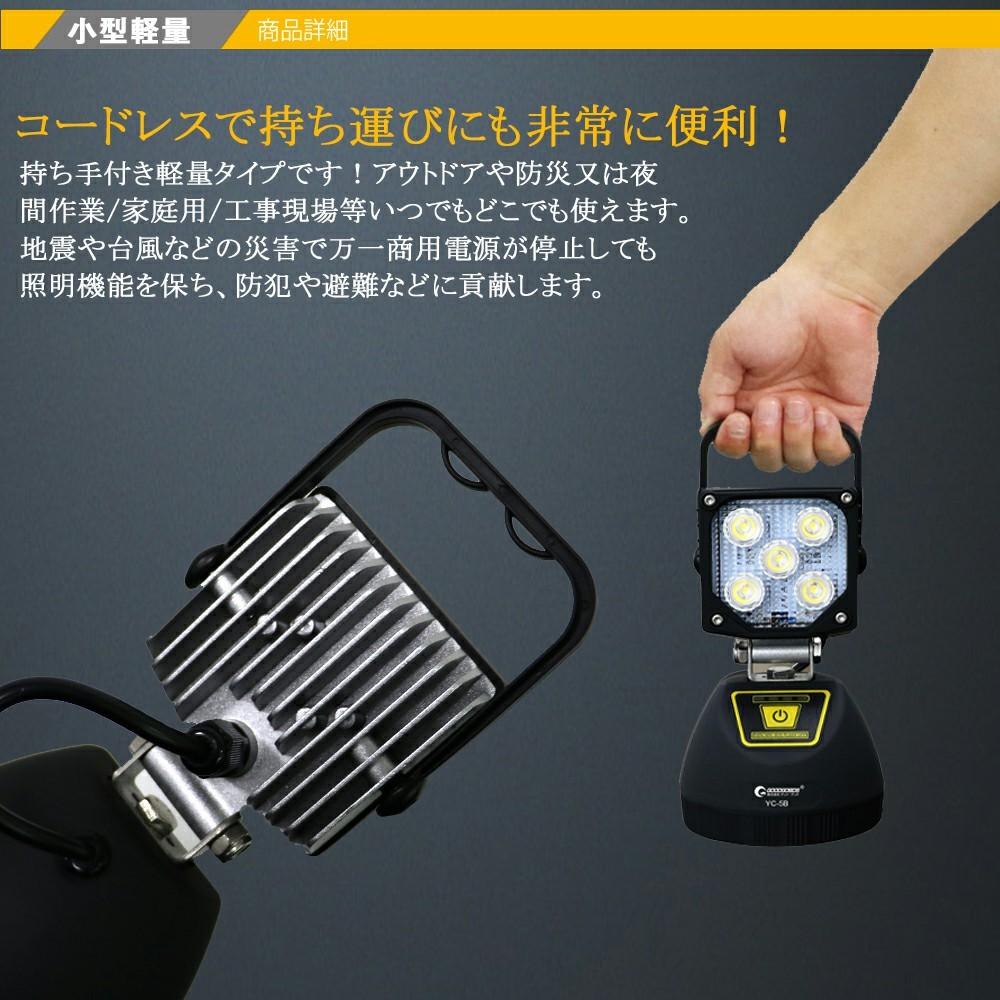 防災グッズ 防災用品 応急ライト 投光器 15w 充電式 作業灯 ワークライト