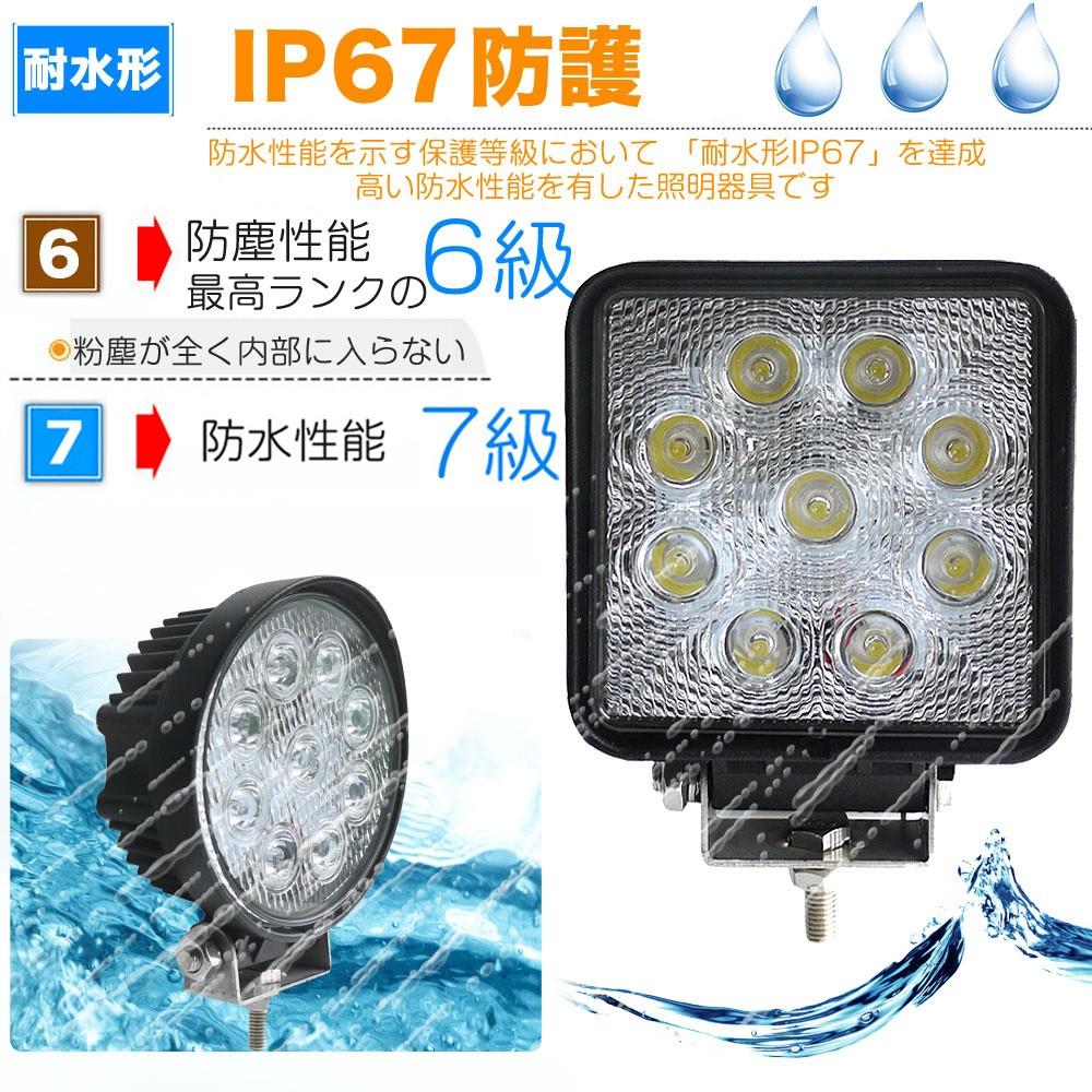 LED作業灯 27w 防水 倉庫 グッドグッズ ワークライト