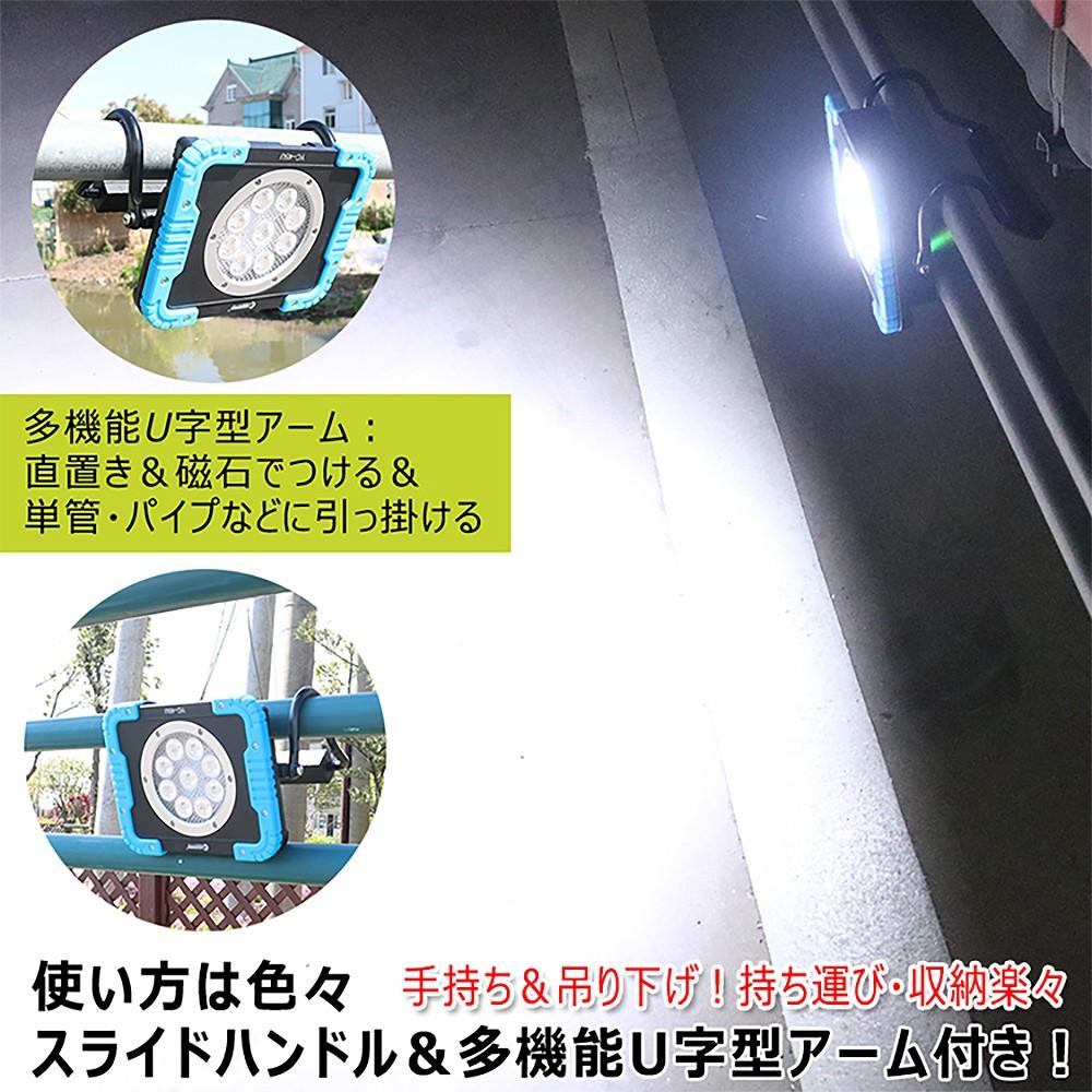 意匠権登録・実用新案登録 ledライト 折り畳み式 充電式作業灯 工事現場