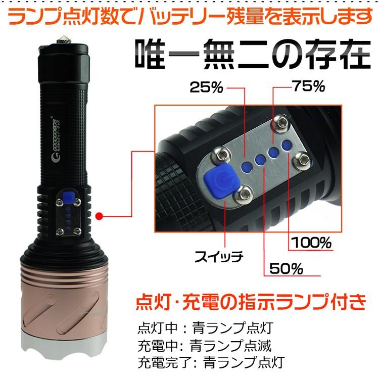 LED懐中電灯 LEDライト 超強力 ズーム機能 キャンプ アウトドア 防水 グッドグッズ