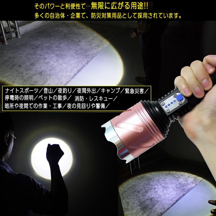 充電式 LED懐中電灯 LED 懐中電灯 自転車ライト 小型 CREE XML-T6