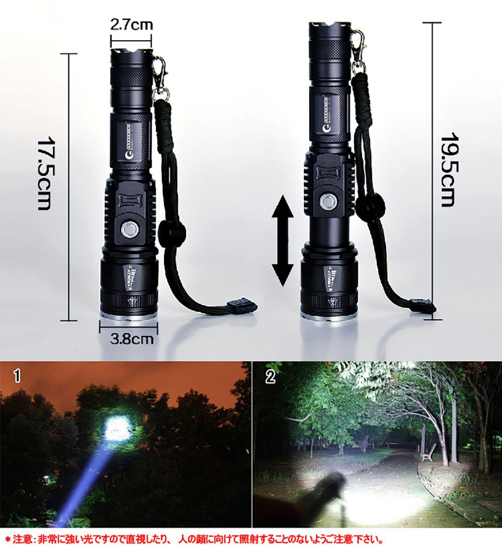 LED  寸法図 ズーム 夜視 応用シーン