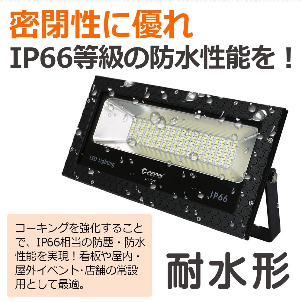 業界初 100w投光器 狭角 スポット照射 作業灯 ワークライト