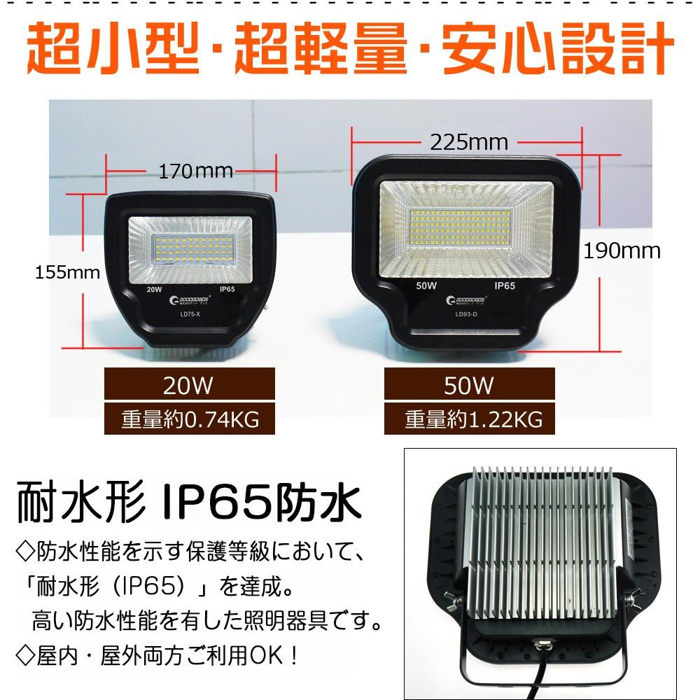 LED投光器 LEDライト 500W相当 5000LM 灯光器 グッドグッズ