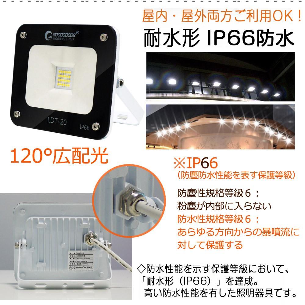 LED投光器 20W 200W相当 LEDライト 照明 作業灯 集魚灯 看板灯 防犯