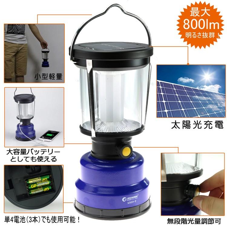 ソーラーパネル LEDチップ 手回し アウトドア キャンプ 充電式懐中電灯 非常用ライト