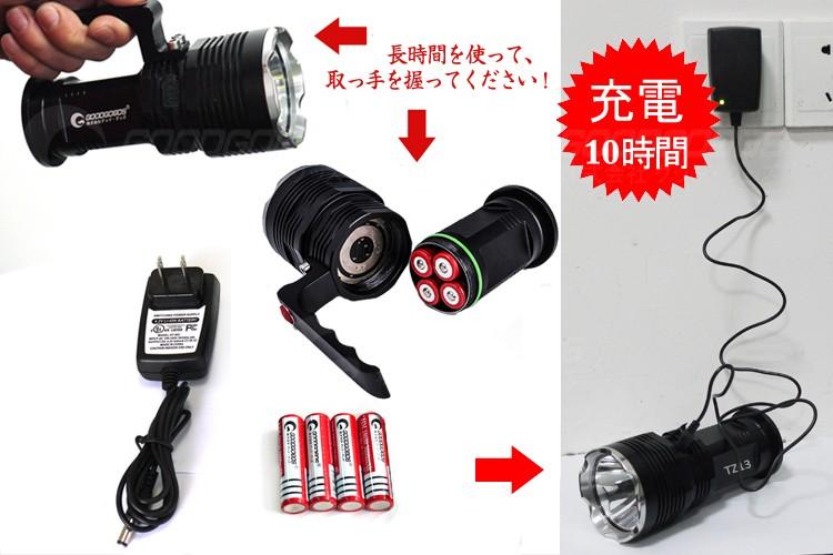 ライト 18650バッテリー
