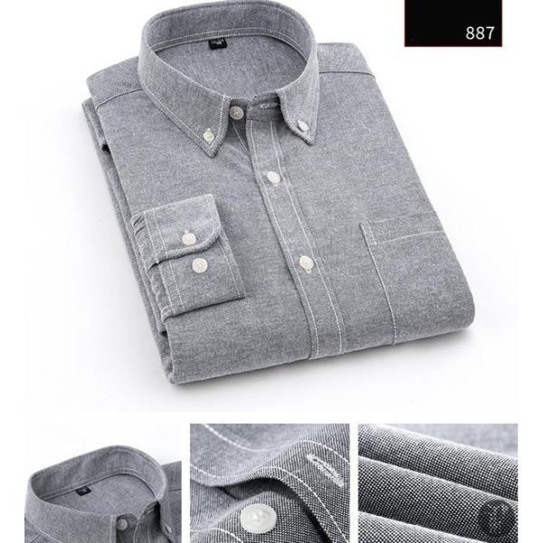オックスフォードシャツ 長袖 メンズ ボタンダウンシャツ リネンシャツ 長袖シャツ 長袖 シャツ 無地 メンズ 代引不可|goodplus|14