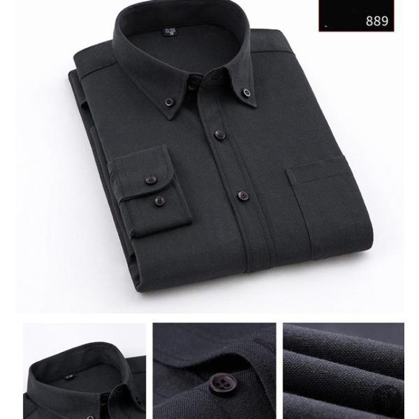 オックスフォードシャツ 長袖 メンズ ボタンダウンシャツ リネンシャツ 長袖シャツ 長袖 シャツ 無地 メンズ 代引不可|goodplus|16