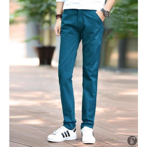チノパン メンズ ボトムス スキニーパンツ 細身 カラーパンツ 8カラー スリムパンツ メンズ コットン リネン パンツ 代引不可|goodplus|20