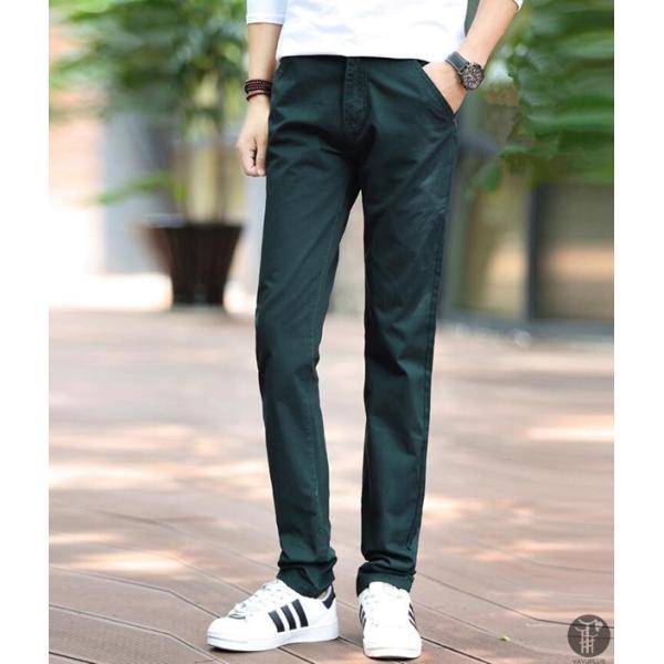 チノパン メンズ ボトムス スキニーパンツ 細身 カラーパンツ 8カラー スリムパンツ メンズ コットン リネン パンツ 代引不可|goodplus|18