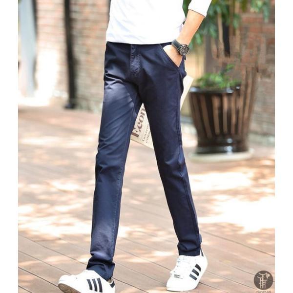 チノパン メンズ ボトムス スキニーパンツ 細身 カラーパンツ 8カラー スリムパンツ メンズ コットン リネン パンツ 代引不可|goodplus|15