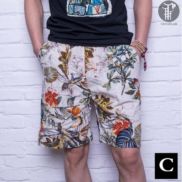 ショートパンツ 麻風 サーフパンツ メンズ ショーツ ハーフパンツ 短パン 涼しい ビーチパンツ ズボン パンツ ボトムス コットン リネン 代引不可 goodplus 12