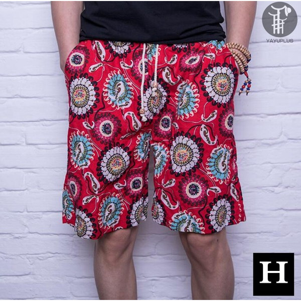 ショートパンツ 麻風 サーフパンツ メンズ ショーツ ハーフパンツ 短パン 涼しい ビーチパンツ ズボン パンツ ボトムス コットン リネン 代引不可 goodplus 17