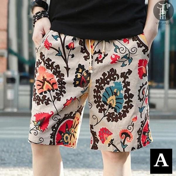 ショートパンツ 麻風 サーフパンツ メンズ ショーツ ハーフパンツ 短パン 涼しい ビーチパンツ ズボン パンツ ボトムス コットン リネン 代引不可 goodplus 10