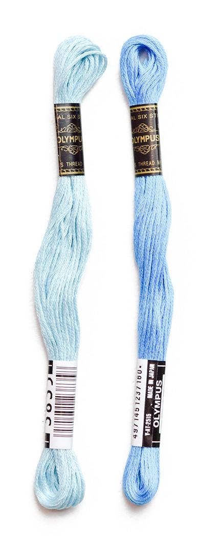 青系刺しゅう糸