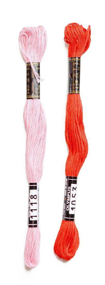 赤系刺しゅう糸