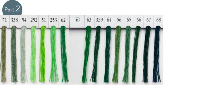 シャッペスパンミシン糸 グリーン・緑系 part2一覧