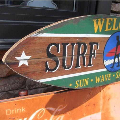 サーフボード木製看板