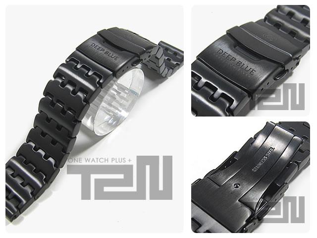 DEEP BLUE (ディープブルー) 【22MM 185MM】 22PVD-LINK 316L ステンレス 腕時計用